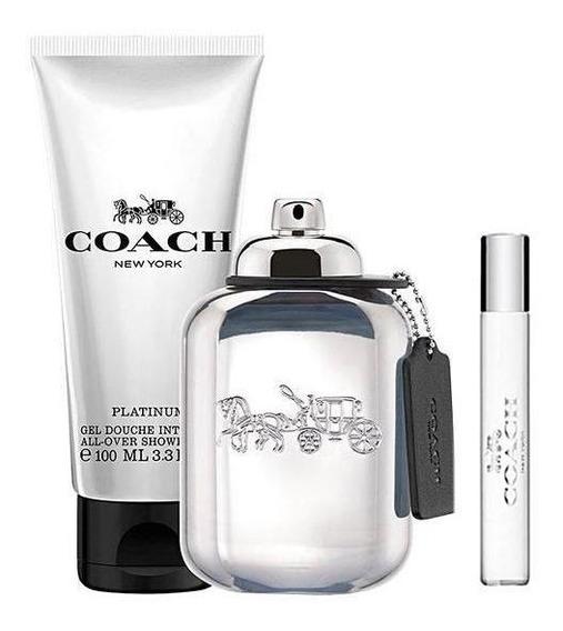 Perfume Coach Platinum Eau De Parfum Masculino 100 Ml + Gel