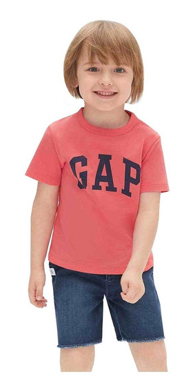 Playera Bebé Niño Manga Corta Estampado Logo Baby Boy Gap