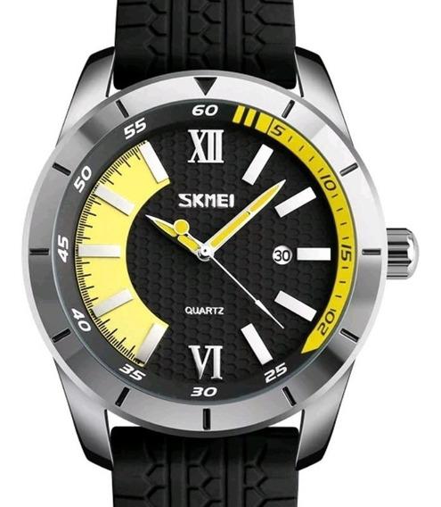 Relógio Masculino Skmei 9151 Silicone Calendário 3atm