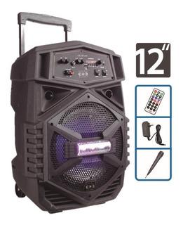 Bocina 12 Amplificada Tws Bluetooth Micrófono Recargable