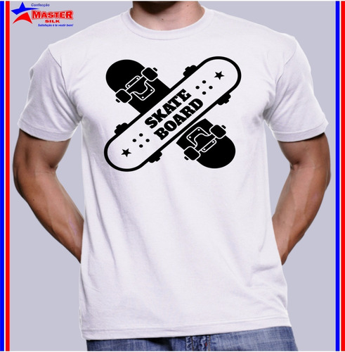 Imagem 1 de 1 de Camisa Camiseta Barata Estampa Radical Skate Board Aventura