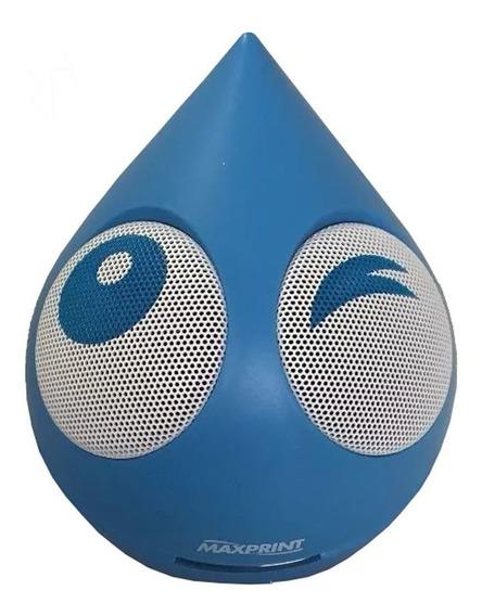 Caixa De Som Mini Gota Azul Para Pc E Celular