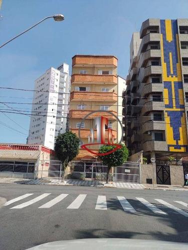 Apartamento Com 1 Dormitório À Venda, 52 M² Por R$ 190.000 - Tupi - Praia Grande/sp - Ap2497