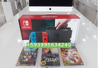 Nintendo Switch Joy-con Color Azul Y Rojo Neón