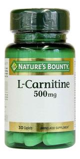 Natures Bounty L-carnitine 500mg Adelgazante Quemador Grasa