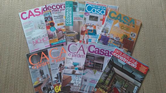 Lote 7 Revistas Decoração, Arquitetura E Casa