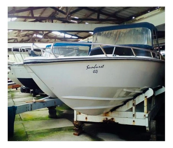 Lancha Intermarine Panther 33 Casco Restaurado, Com Interno