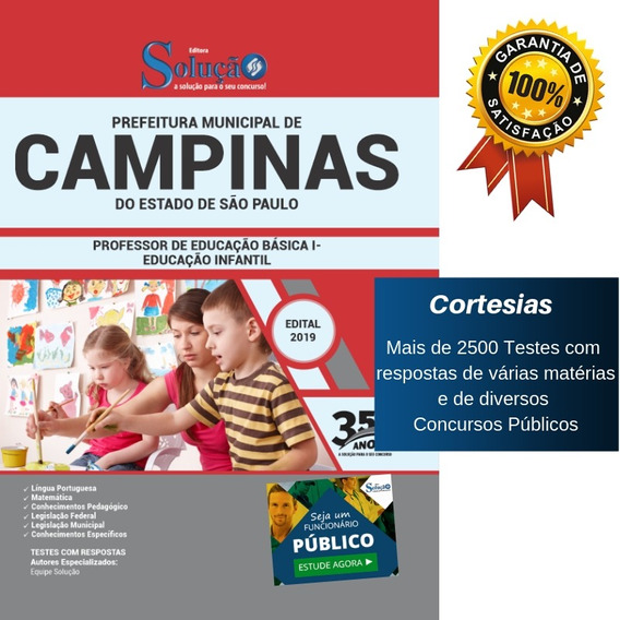 Apostila Peb 1 Prefeitura Campinas Sp 2019 - Ensino Infantil