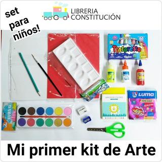 Mi Primer Kit De Arte Acuareles Temperas Colores Y Varios