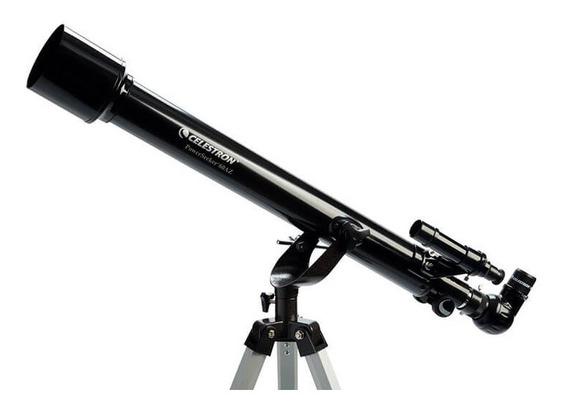 Telescópio Refrator Powerseeker 60az Celestron Azimutal Com Tripé, Oculares E Barlow De 3x Original