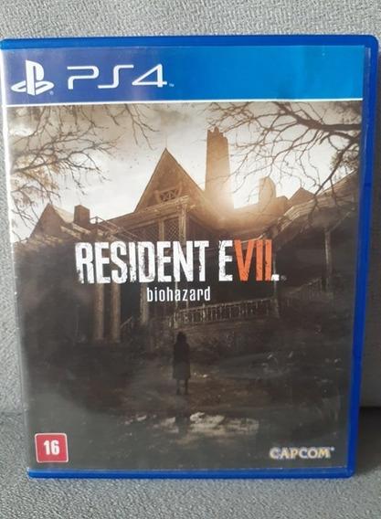( Frete R$ 9.90 ) Jogo Resident Evil 7 Português Ps4 Cd