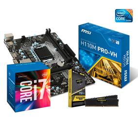 Kit Upgrade Core I7 7700 + Placa Mãe H110 + 16gb (2x8) Ddr4