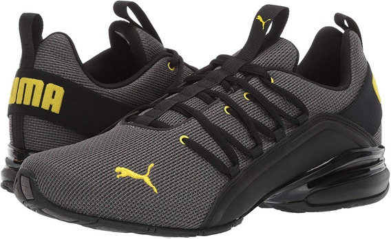 Puma Axelion Mesh Charcoal Gray-blazing Yellow 192488 05