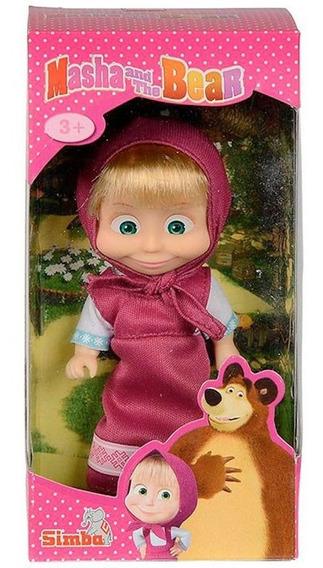 Mini Figura Articulada Masha E O Urso Roupa Rosa Sunny 1481