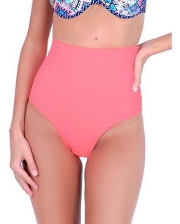 Bikini Calzón Tiro Alto Color Naranja