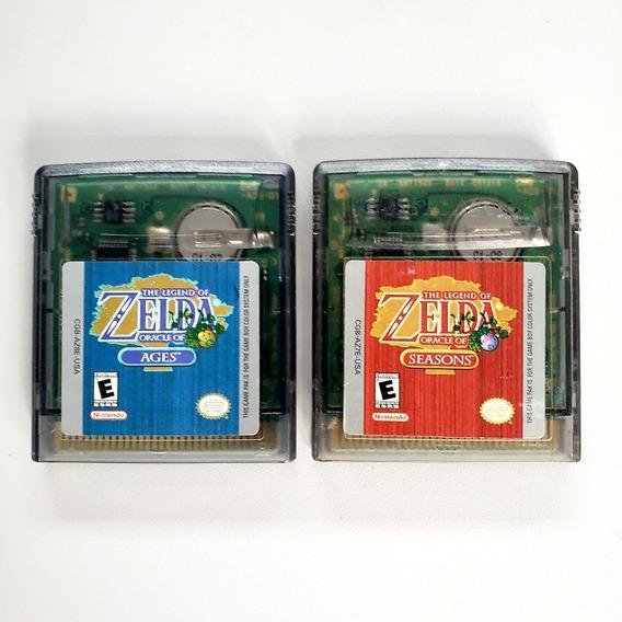 Lote Zelda Oracle Of Age Seasons Original Gameboy Game Boy