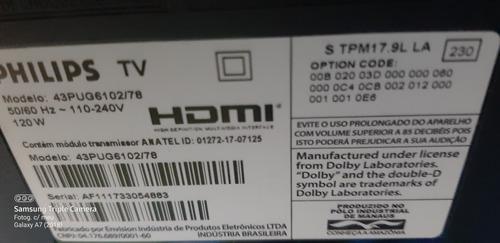 Smart Tv Philips 43 Pol 2 Meses De Uso Tela Quebrada
