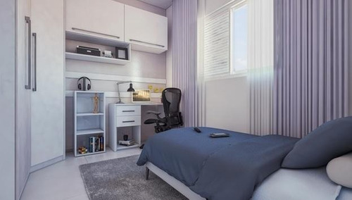 Apartamento Em Parque São Vicente, São Vicente/sp De 46m² 2 Quartos À Venda Por R$ 207.000,00 - Ap707609