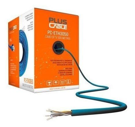 Caixa Cabo De Rede Cat5 Caixa 300m Pc-eth3000bl - Plus Cable