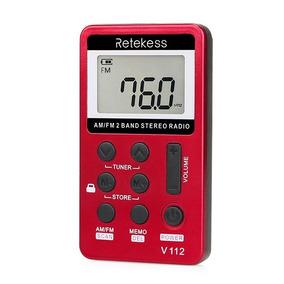 Rádio Receptor Digital Retekess V-112 Am/fm Importado