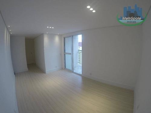 Apartamento Para Alugar, 63 M² Por R$ 1.400,00/mês - Vila Rosália - Guarulhos/sp - Ap0577