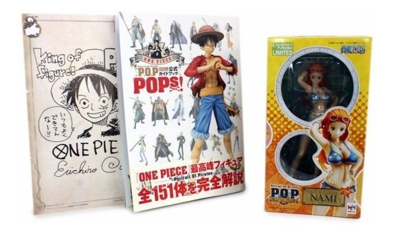 Megahouse One Piece - Nami Crimin + Pops Libro Guía + Poster