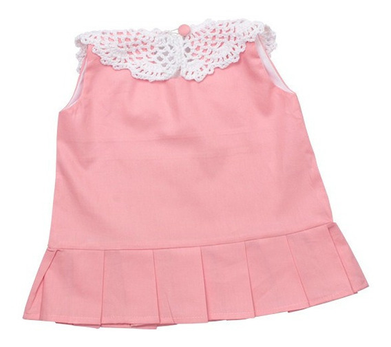 Vestido Infantil 100% Algodão Vanvan Rosa
