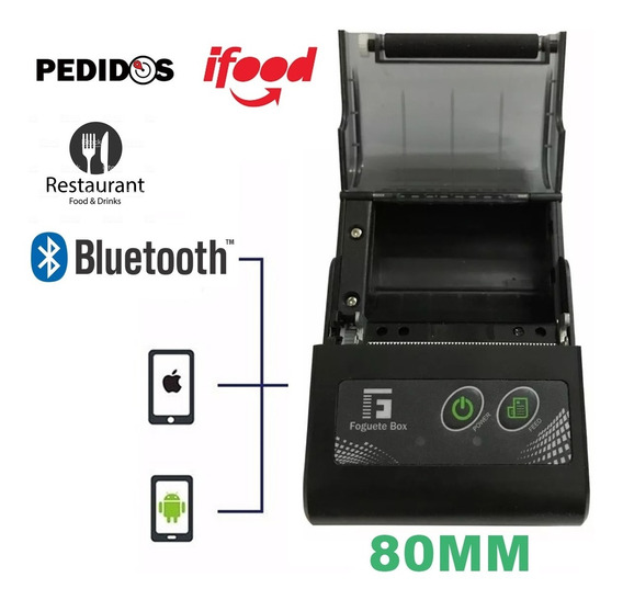 Impressora Térmica Cupom 80mm Usb Bluetooth Ideal P/ Ifood