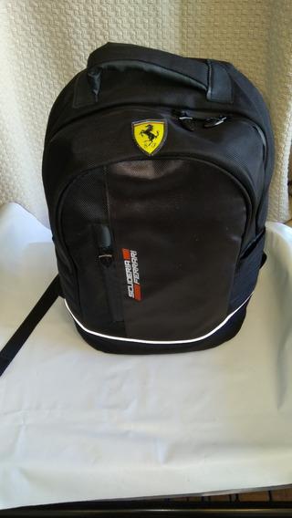 Mochila Ferrari Nova scudetto Red Backpack Preta Importada