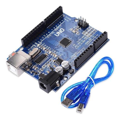 Imagen 1 de 1 de Uno R3 Smd Tecneu Con Cable Usb Compatible Con Ide Arduino