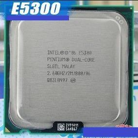 4 Peças Processador Dual Core E5300 2.6ghz 2m Intel