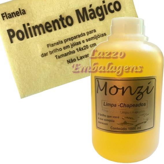 Limpa Folheados Banhados E Chapeados Monzi Litro Original