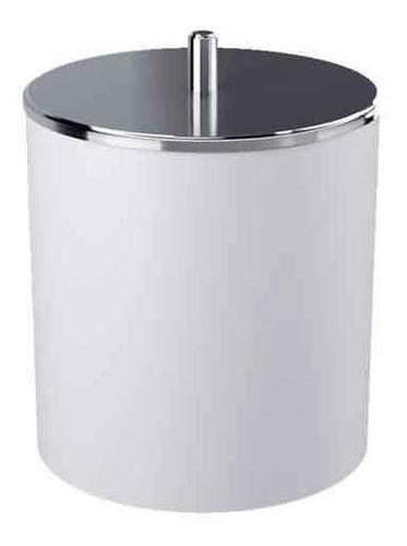 Lixeira Com Tampa Branca Em Aço Inox 5,4 Litros - Coza