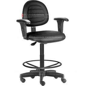 Cadeira Caixa Alta Portaria Recepção Costura Preto Cb76
