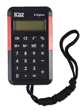 Calculadora De Bolso 8 Digitos Com Cordão Kz5004
