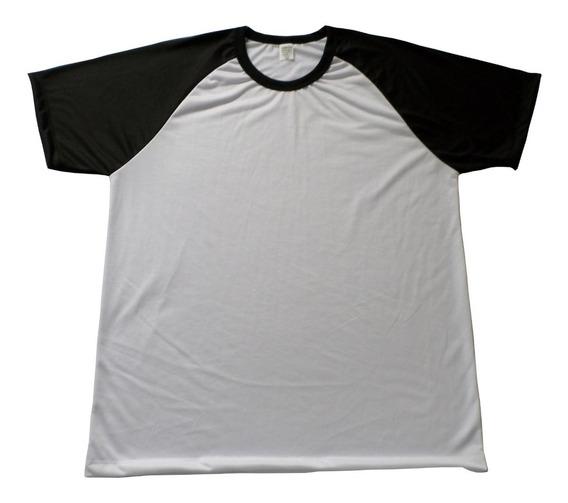 Kit Com 10 Camisetas Raglan Lisas Para Sublimação Atacado!