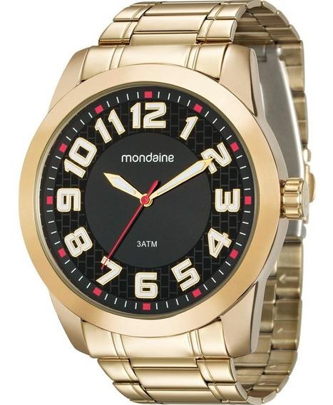 Relógio Mondaine Masculino Dourado 99130gpmvde3