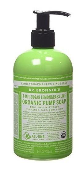 Dr. Bronner Azúcar Orgánica Jabón - 4-en-1 Bomba De Jabón Sh