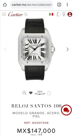Reloj Cartier Santos 100 Aniversario