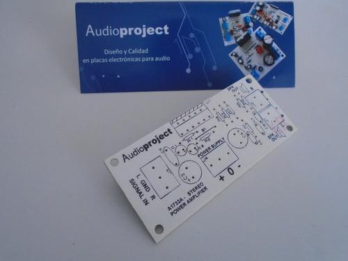 Circuito Impreso Amplificador 40+40 W Tda7292 Audioproject