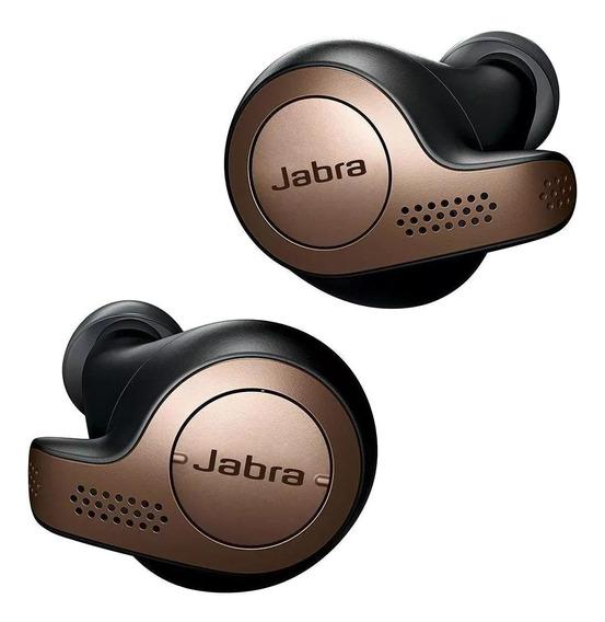 Fone de ouvido sem fio Jabra Elite 65t black copper