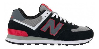 New Balance 574 Black And Red Suede