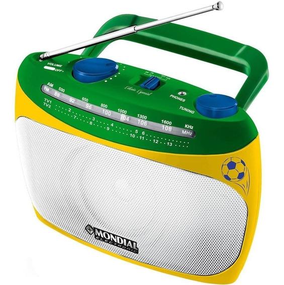 Rádio Portátil Mondial Rp-02 Am/fm/tv Bivolt