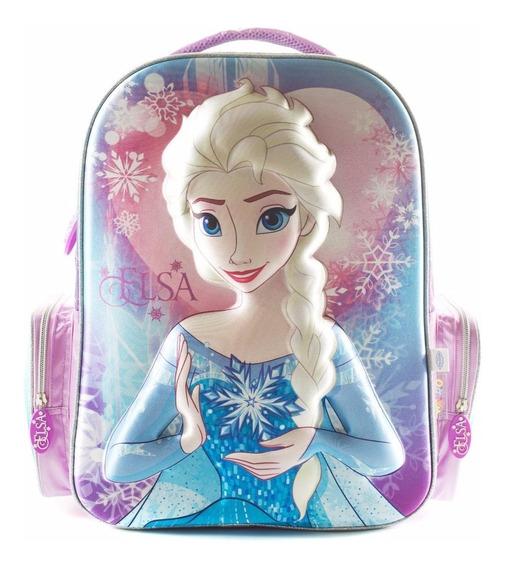 Mochila Disney Frozen De Espalda Elsa 3d 17 Wa69315