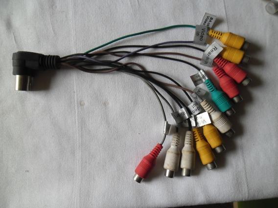 Conector 13 Pinos Macho Saida Av Rca Femea Novo