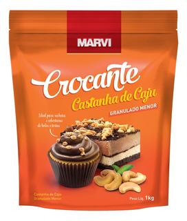 Crocante Castanha Caju Médio 1kg Marvi