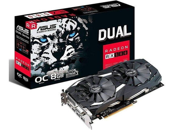 Placa de vídeo AMD Asus Radeon RX 500 Series RX 580 DUAL-RX580-O8G OC Edition 8GB