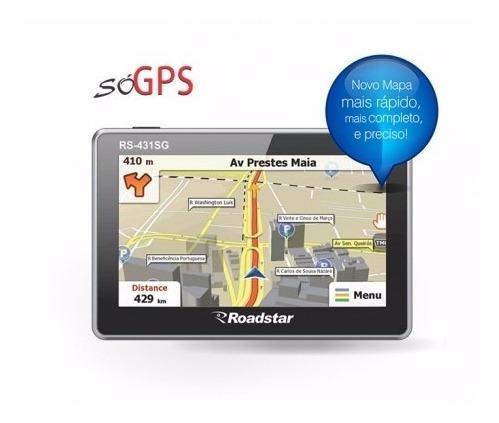 Gps Portatil Roadstar Tela Touchscreen Tft 4.5