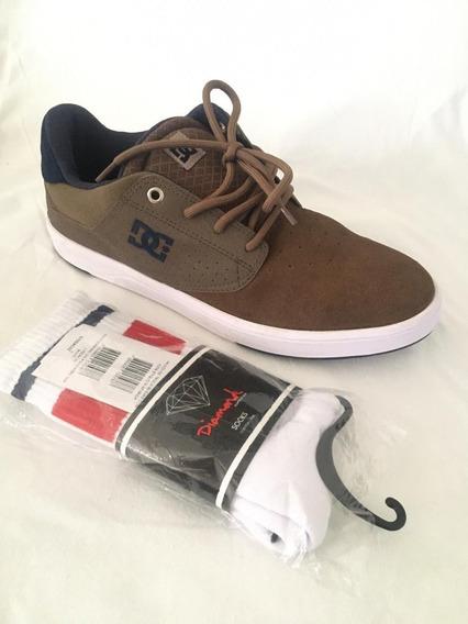 Tênis Dc Shoes Plaza Tc Camurça+meia Diamond