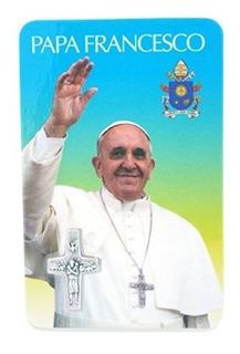 Papa Francis Tarjeta Con Santa Cruz Papal